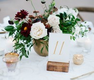 Wood block table numbers