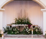 Ceremony altar with flowers