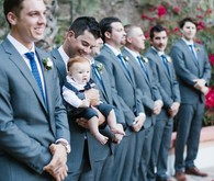 Groomsmen with groom's son