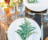 fern place setting