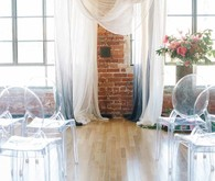 drapey wedding ceremony decor