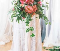 coral peony bridal bouquet