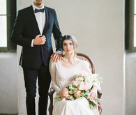 French Chateau wedding portraits