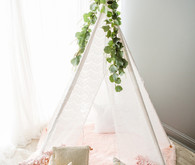 teepee with eucalyptus
