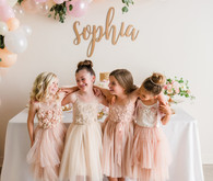 pink and gold ballet-inspired birthday party
