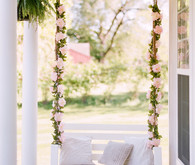 floral garland porch swing