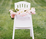 floral decorated high chair