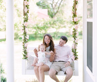 floral porch swing