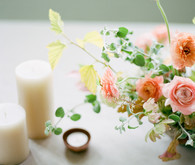Elegant peach floral arrangement