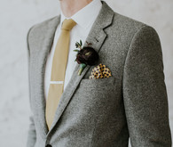 Grey suit for groom