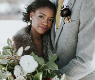 Winter wedding ideas for portrait