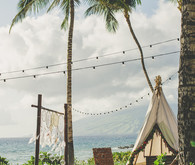 desert meet beach maui wedding