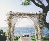 floral arch for wedding ceremony