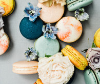 beautiful color palette with macarons