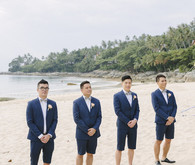 groomsmen in shorts