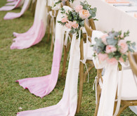 Dip-dyed wedding details