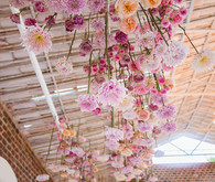 floral ceiling installation