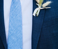 blue groom's suit