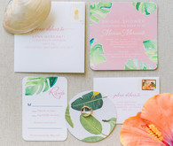 Tropical bridal shower invitations