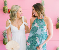 Tropical bridal shower dresses