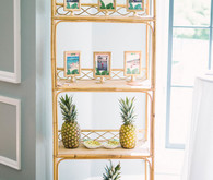 Tropical bridal shower decor