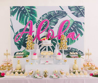 Aloha theme dessert table