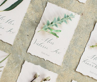 botanical escort card idea