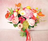 colorful wedding bouquet
