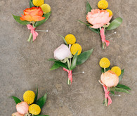 colorful boutonnières