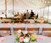 pink and white reception ideas