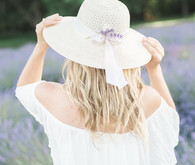 Lavender field maternity photos