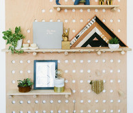 DIY nursery shelving