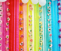 rainbow streamer backdrop