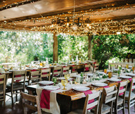 eclectic secret garden wedding with fall colors