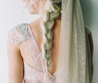 Bride with long braid