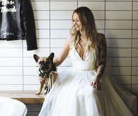 bride and doggie