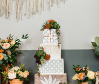 spanish tile wedding cake