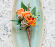 sweet orange boutonnière