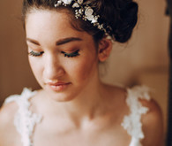 Modern updo bridal style