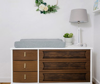 Walnut changing table