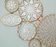 DIY wall decor with vintage crochet