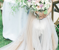 Pastel tulle wedding dress