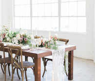 Modern romantic loft wedding