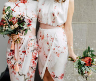 stylish floral bridesmaid dresses