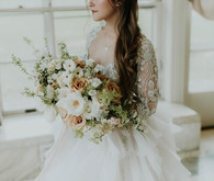 Secret Garden-inspired bridal editorial