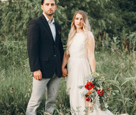 Late summer Nebraska farm elopement shoot