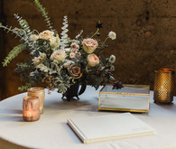 Romantic industrial fall wedding in San Diego at Luce Loft