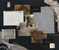 Moody shipwreck inspired wedding invitations