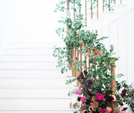 Floral design for staircase