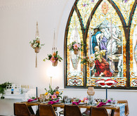 Stained Glass - inspired wedding ideas at The Ruby Street venue
